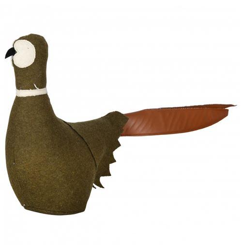 Cale-porte en feutre - Oiseau - L 47,3 cm x l 10,8 cm x H 30,5 cm