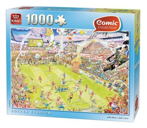 Puzzle 1000 pièces comic collection : match de football king puzzles