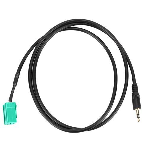 Câble audio de l'adaptateur d'entrée auxiliaire de voiture jack 3.5mm pour Renault