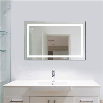 100x60 cm - Mural Miroir LED Lampe de Miroir Éclairage pour Salle de Bain