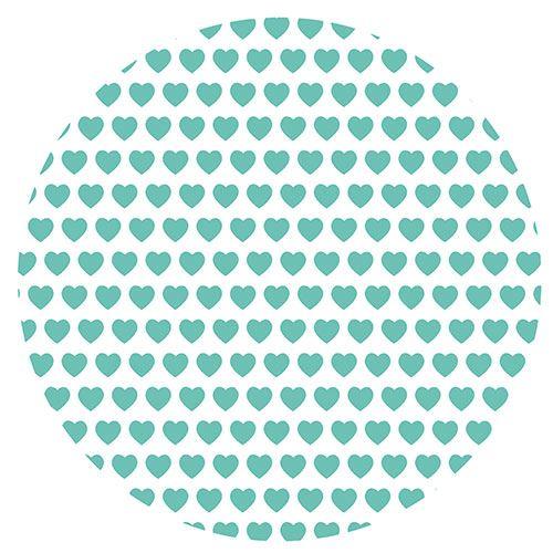 Set de 4 dessous de verres ronds petits coeurs verts by Cbkreati