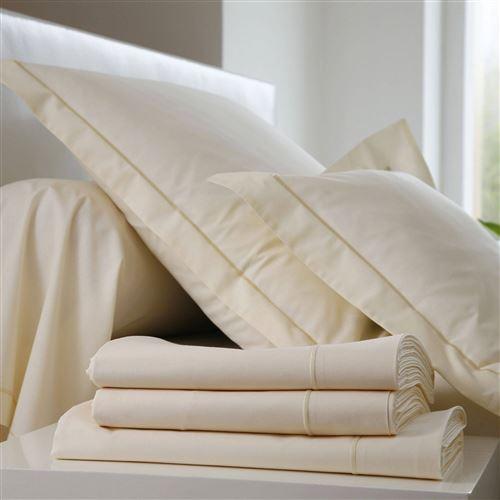 Taie d'oreiller Coton BLANC DES VOSGES - Coquille - 50 x 73 cm