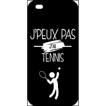 Coque apple iphone 5s j peux pas j ai tennis 2