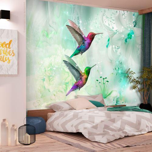400x280 Papier peint Animaux Moderne Colourful Hummingbirds (Green)