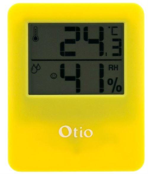 Otio thermomètre/hygromètre magnétique pour intérieur jaune