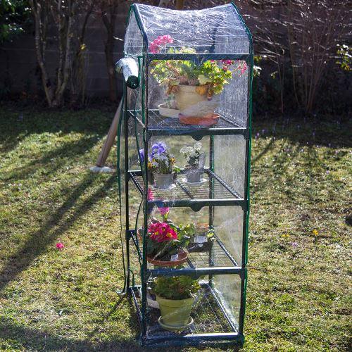 Mini Serre de jardin 4 étagères 69*49*158 cm + une housse PVC supp. OFFERTE