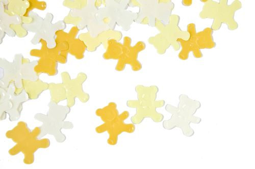 Confettis de table Oursons - jaune