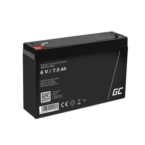 Green Cell AGM Batterie au plomb 6V 7Ah