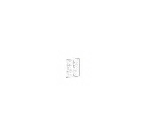 Feuillet vierge pour plaque transparente Odace You - 1 poste