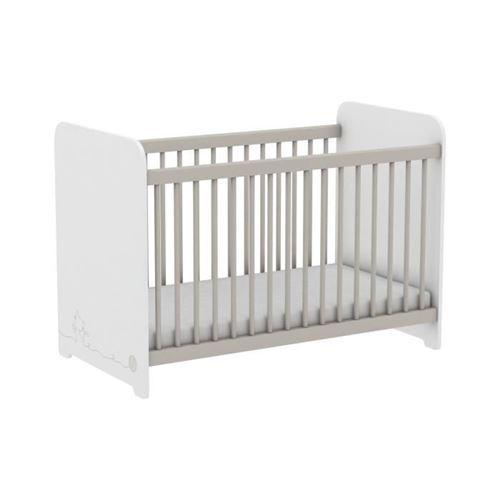 MISTIGRI 261537 Lit bébé - 60 x 120 cm - Blanc mat