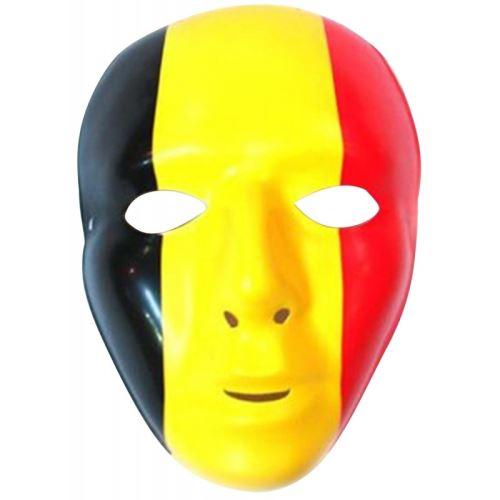 masque belgique belgium noir jaune rouge pvc foot ambiance