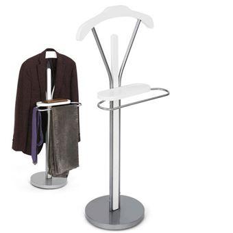 Valet de Chambre Porte vêtements - Blanc - 108 x 45 x 30 cm