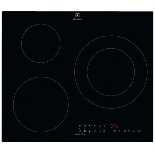 Electrolux SÉRIE 300 IXE6342KF - Table de cuisson à induction - 3 plaques de cuisson - Niche - largeur : 56 cm - profondeur : 49 cm - noir - noir