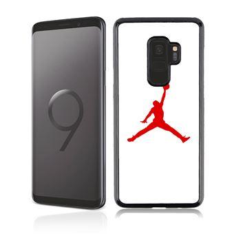 Coque pour Samsung Galaxy S9 jordan basketball logo blanc