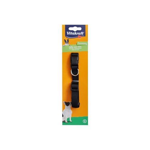 vitakraft collier premium doublé s - noir - pour chien