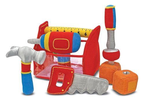 Melissa & Doug Boîte à outils - Jouet pour tout-petit à remplir et renverser avec perceuse vibrante (9 pièces)