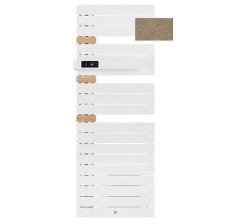 Sèche-serviettes connecté soufflant Allure 3 classique - Mât à gauche - 500+1000W - Brun sable