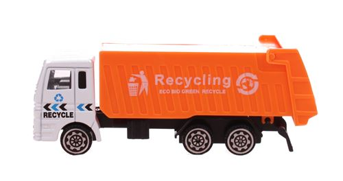 Free and Easy camion de recyclage orange 11 cm