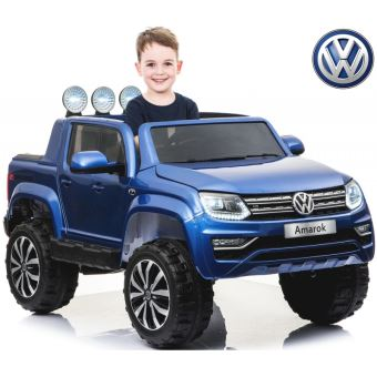 grand 2 places 2x12 volts voiture quad 4x4 lectrique enfant amarok bleu m tal pack toute option. Black Bedroom Furniture Sets. Home Design Ideas