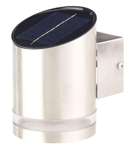 Applique solaire à LED 20 lm en acier inoxydable