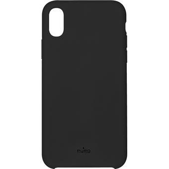 PURO Icon - Coque de protection pour téléphone portable - silicone - noir - pour Apple iPhone X, XS