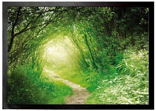 Forêts Paillasson Essuie-Pieds - Forêt Verte, Sentier Lumineux (70x50 cm)