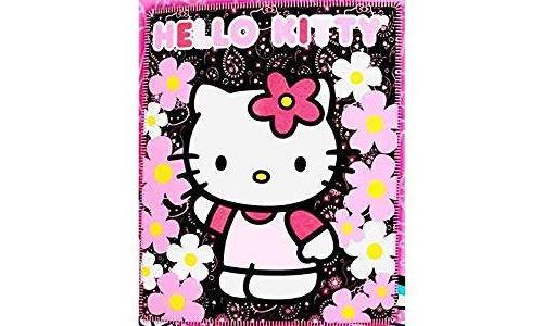 Couverture - Hello Kitty - Black Sunflwers Jeté en polaire 50x60 70331