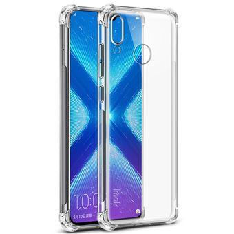 Coque en TPU la peau se sentent antidéflagrants antichocs transparent pour votre Huawei Honor 8X