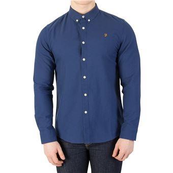 prix compétitif 457a4 fef46 Farah Vintage Homme Brewer Slim Chemise, Bleu - Chemises et ...