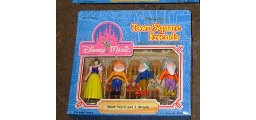 Amis de Disney World Town Square - Blanche-Neige et 3 nains