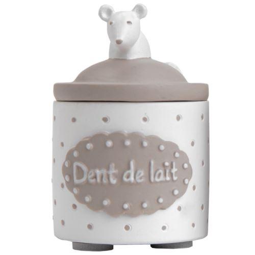 Petite boite à dents de lait blanche