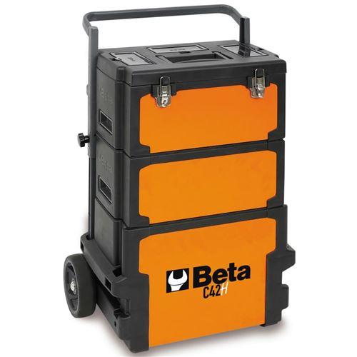 Beta Tools Boîte à outils roulante C42H Orange 042000002