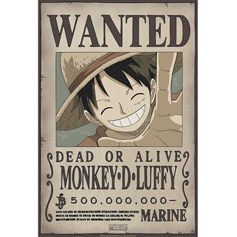 588613acd1af4 ABYstyle Abysse Corp   Abydco427 One Piece – Poster Wanted Luffy Neuf (52 x  35)