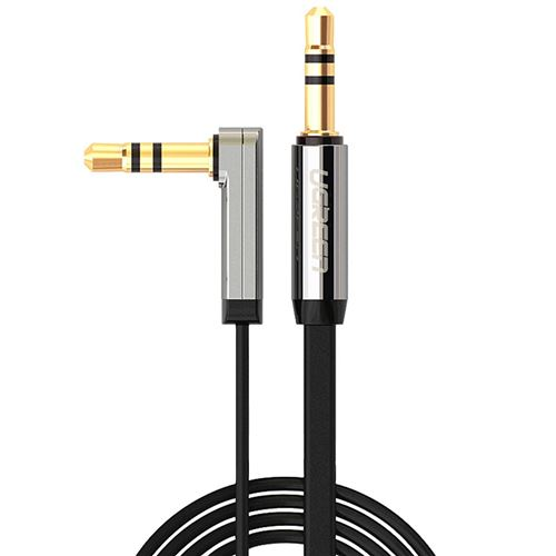 (#1) 3.5mm Male to 3.5mm Male Elbow Audio Connector Adapter Cable Gold-plated Port Car AUX Audio Cab