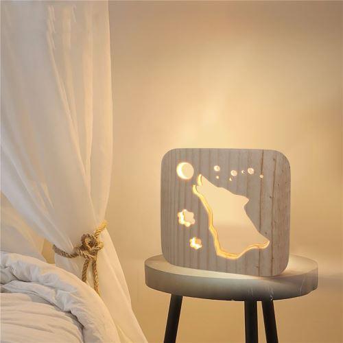Creative Craft Décoration Lampe en bois Led Lumière Veilleuse Lampe de table_onaeatza449