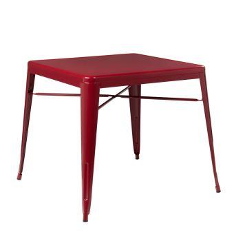 nouveau style 354aa ff1fc Lix Table Sklum PrixFnac X80x80Rouge Bordeaux Achatamp ...