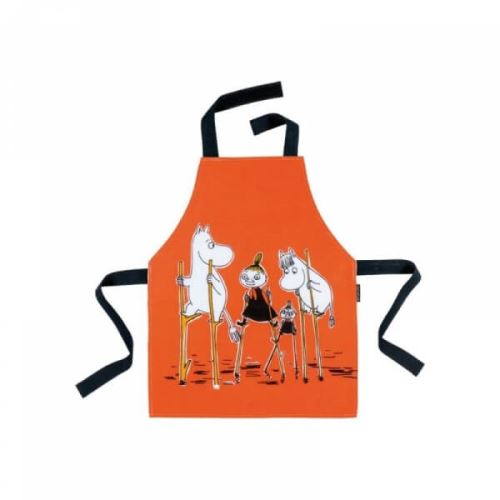 Tablier de cuisine orange moomin - petit jour paris