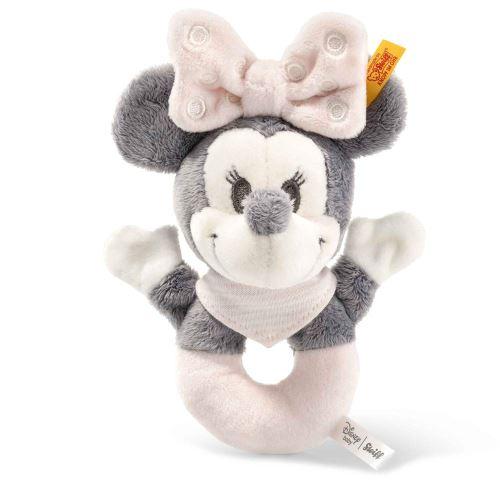Steiff Minnie Mouse anneau de préhension avec crécelle - 13 cm