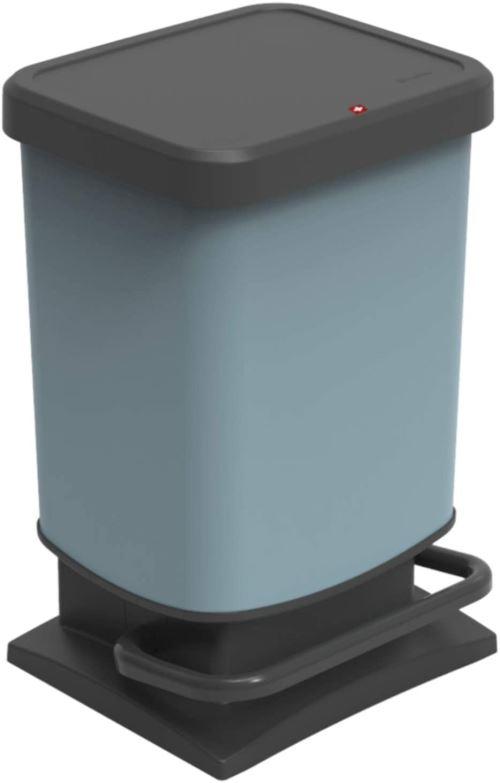 Poubelle Rotho Eco Paso 20l, plastique (PP), bleu, 20 litres (29,3 x 26,6 x 45,7 cm)