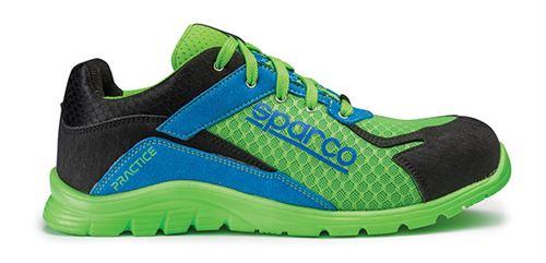 Chaussure de sécurité S24 SPARCO Pratice - Noir vert/bleu - Taille 39 - 07517