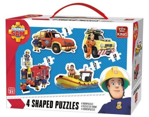 Puzzles de 8 à 14 pièces : 4 puzzles : sam le pompier king puzzles
