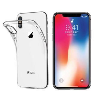 INECK Coque iPhone X Transparente Ultra Fine Bumper en TPU Etui de Protection pour Apple iPhone 10