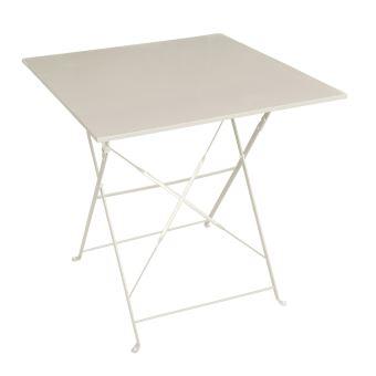 Table pliante carrée Camargue - 2 Places - Taupe - Mobilier ...