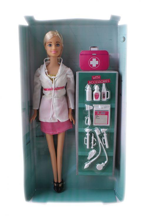 Toi-Toys poupée adolescente Docteur Lauren blonde
