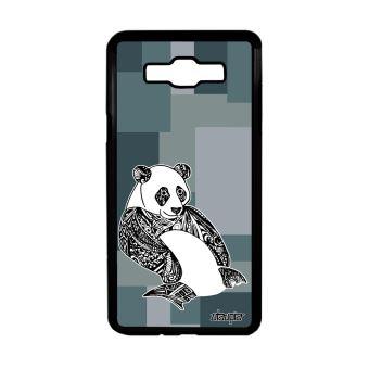 Coque Silicone Samsung J7 2016 Panda Design Cube Dessin Noir