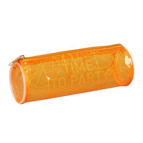 Viquel Trousse scolaire transparente ronde FLUO COLOURS Orange