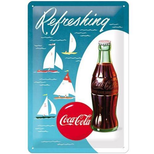 Plaque métal Coca-Cola Bateaux