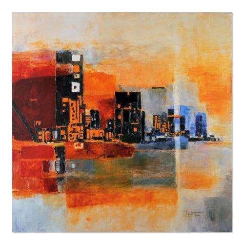 Tableau sur toile Image Cadre moderne Canevas Panorama Ville 60x60