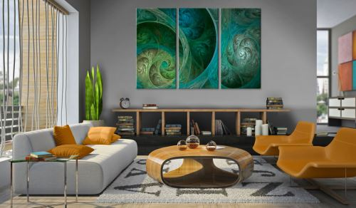 90x60 Tableau Abstraction Superbe Orient, source d'inspiration