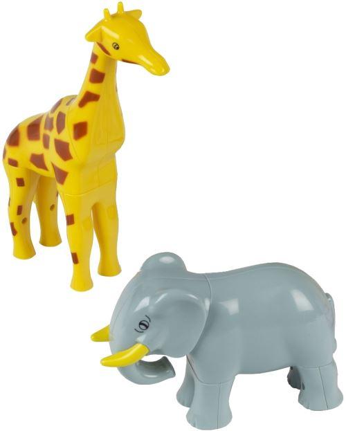 Klein dierenpuzzel 3D avec des aimants Girafe et Elephant 8 pièces